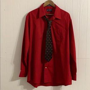Men's Stafford Essentials Oxford Dress Shirt & Tie